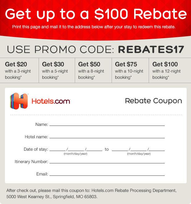 Hotels.com   Rebate
