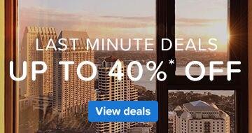 Great last minute hotel deals