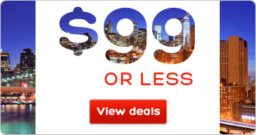 Hotels for $99 CAD or less