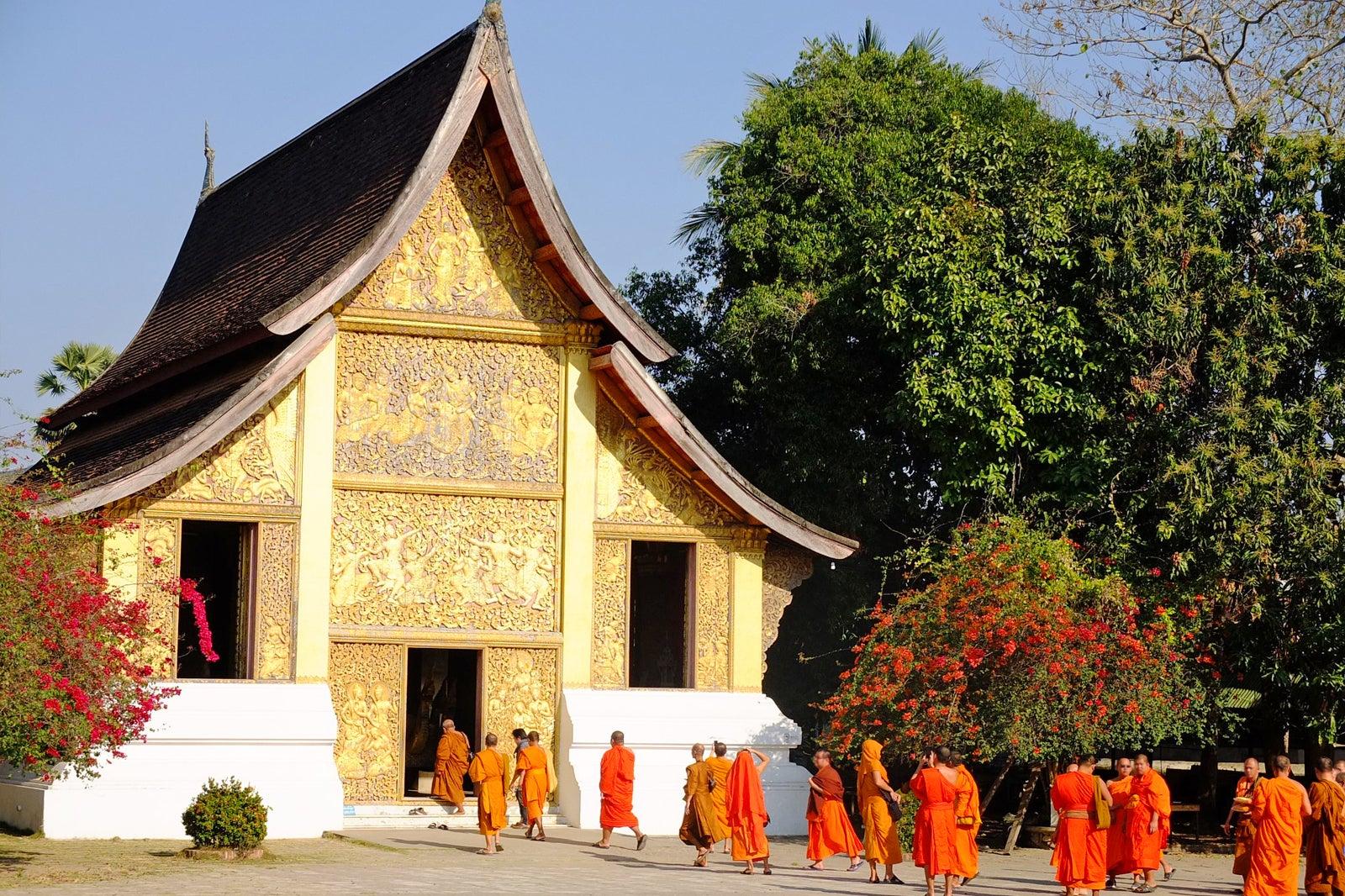 Wat Xieng Thong in Laos - 16th-century Buddhist Temple in Luang Prabang