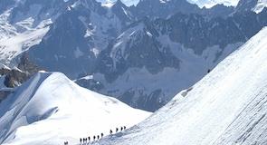 Seilbahn über das Mont-Blanc-Massiv