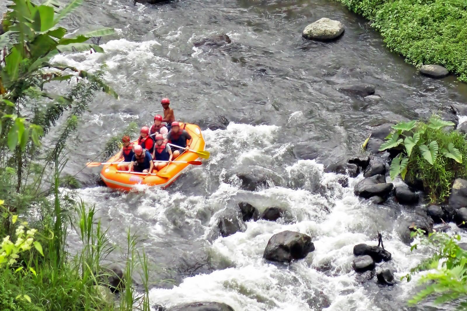 Ayung River Rafting In Bali Whitewater Rafting In Ubud