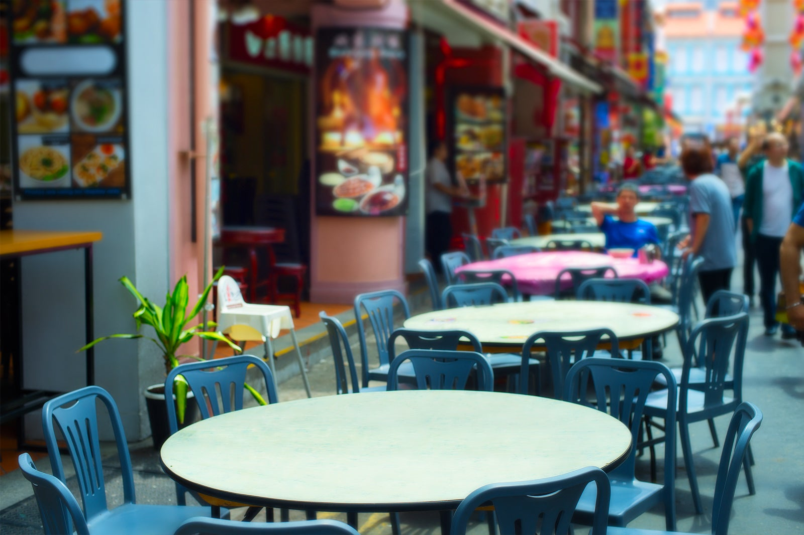 Chinatown Food Street in Singapore - Famous Hawker Center on