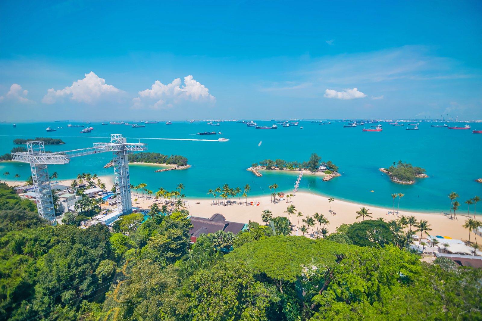 Siloso Beach Singapore - Popular Beach in Sentosa