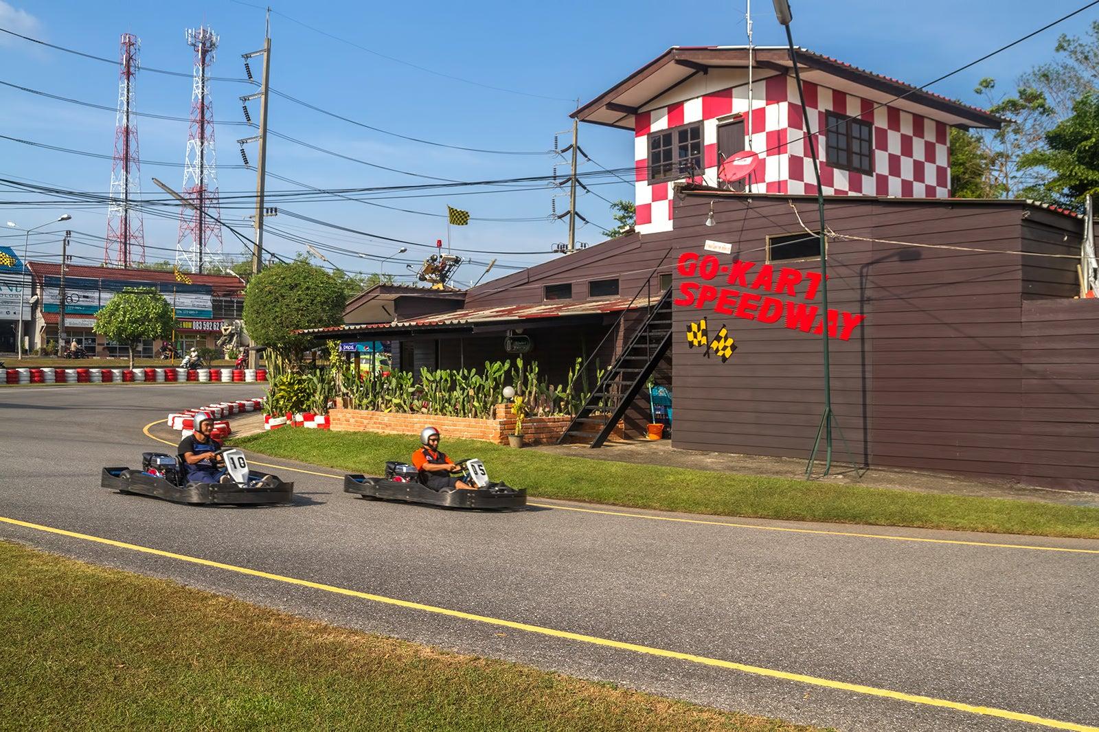 Patong Go Kart Speedway In Phuket Motor Racing Track Near Patong