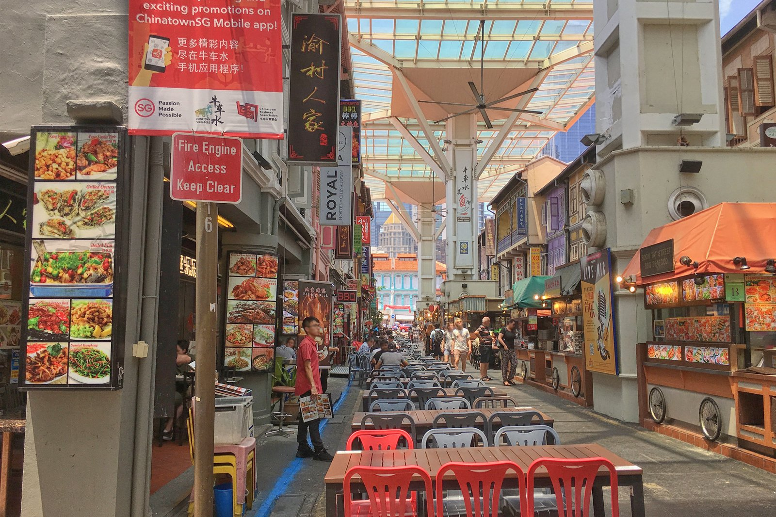 Chinatown Food Street in Singapore - Famous Hawker Center on Smith Street, Singapore – Go Guides