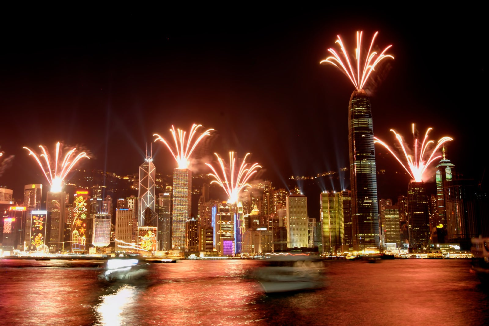 Symphony of Lights Hong Kong - Light and Sound Show at Victoria Harbour