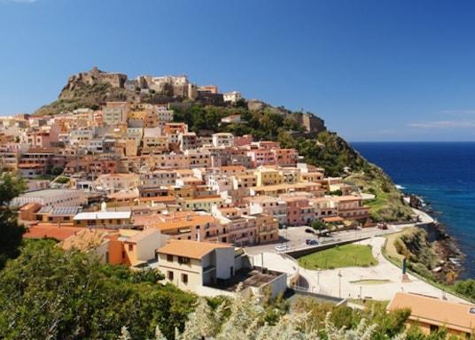 Castelsardo historiska stadskärna, Italien